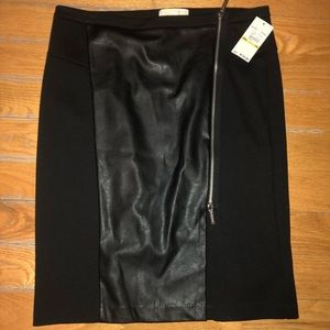 Michael Kors Stretch Leather Skirt